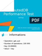 Distributed DB Performance