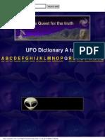 Ufo Dictionary