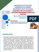 1 Control de La Calidad y Criterio Microbiologico de Frutas