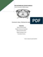 Curriculumn Vitae y Solicitud de Empleo