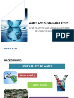 Water and Sustainable Cities