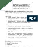Plano de curso  Formação do Profissional da educação 2014
