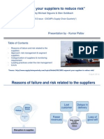 "Operation Management - ""Segment your suppliers to reduce risk"""