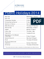 Public Holiday 2014