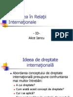 Dreptatea in Relatii Internationale