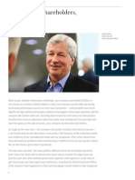 Brief shareholders JP Morgan Jamie Dimon