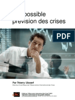 L'Impossible prévision des crises par Thierry Libaert