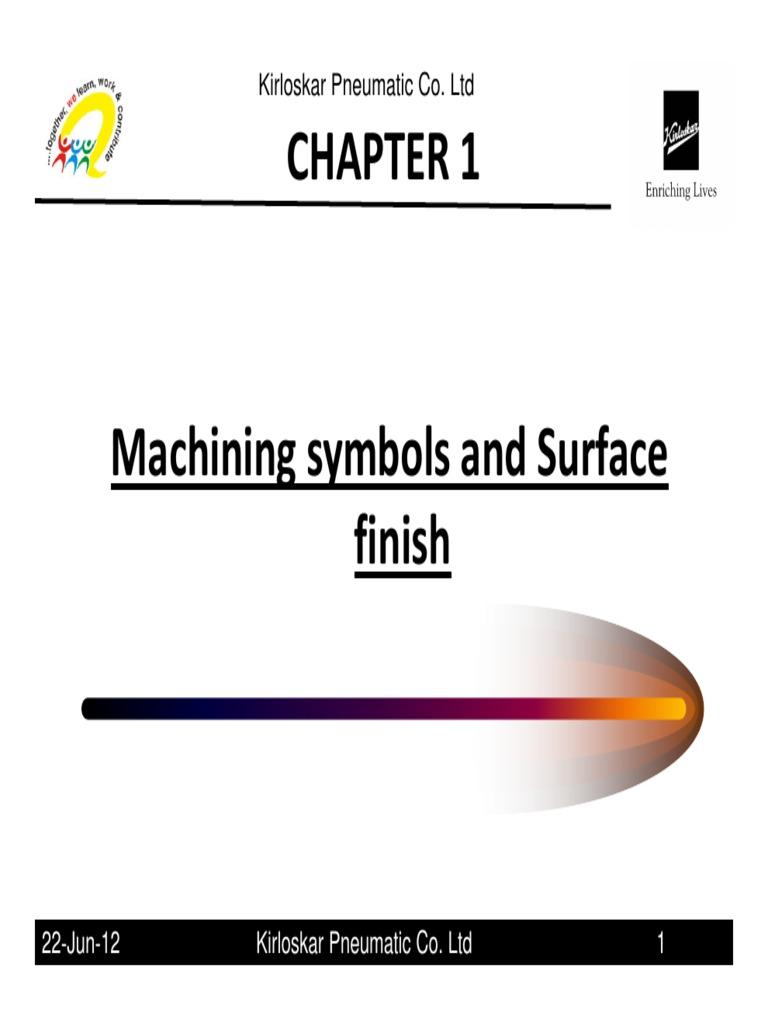 Machine Symbols Surface Finish Surface Roughness Machining