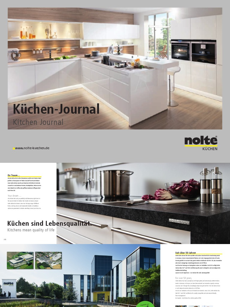 nolte kuechen journal 2013 de en. Black Bedroom Furniture Sets. Home Design Ideas