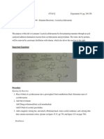 Project 3 - Enamine Reactions 2-Acetylcyclohexanone