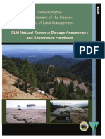 BLM Natural Resource Damage Assessment and Restoration Handbook