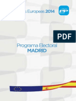 Programa Europeas 2014 Pp Madrid
