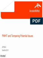 API 934 Att 3 PWHT Tempering Issues Industeel
