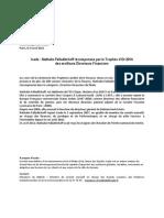 20140409 - CP - Icade_Trophées Leaders de la Finance