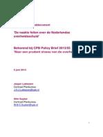 Cpb Achtergronddocument de Naakte Feiten Over de Nederlandse Overheidsschuld