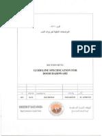 SECTION 08710 Door Hardware Rev 0