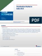 Desalination Market in India-2013