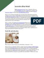Project on Narendra Modi