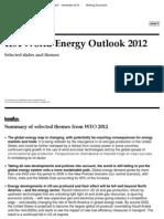 IEA WEO 2012 Summary Slides