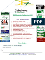 9th April,2014 Daily Global Rice E-Newsletter by Riceplus Magazine
