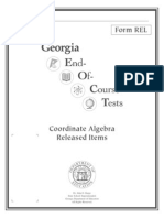 coordinate algebra released items booklet