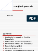 Impozite - noţiuni generale