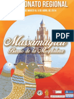 Revista del Campeonato de Colombicultura Regional del Barrio de la Magdalena-Massamagrell