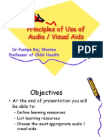 Principles of Use of Audio Visual Aids