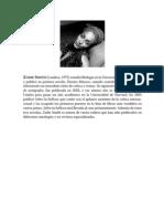 Zadie Smith. Un Homenaje - Marta Rivera De La Cruz