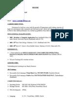 Resume Sameer Kumar Pradhan House No-293, 74th Cross Kumaraswamy Layout