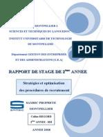 Rapport de Stage Coline REGORD RH