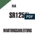 Yamaha sr 125 `97 manual German