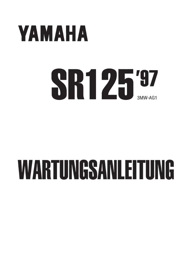 Yamaha sr 125 `97 manual German