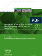 How would a trade deal on sugar affect exporting and importing countries?