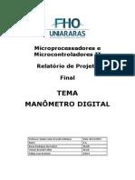 Relatório Final Microcontroladores