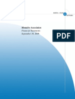 Montalvo Association Financial Statements