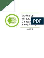 Handy Backup MS SQL Backup April 2014