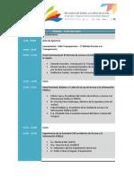 Agenda - II Seminario Int. de Acceso a la Información Pública Uruguay