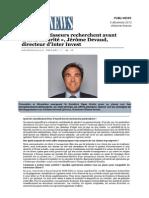 Publis News Jerome Devaud Inter Invest Investisseur Securite