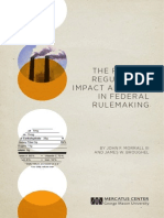 The Role of Regulatory Impact Analysis in Federal Rulemaking