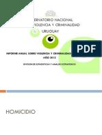 Informe anual de violencia y criminalidad en Uruguay