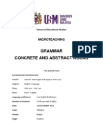 lesson plan concrete and abstract nouns