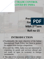 Direct Trade Control Employed by India Ppt