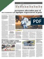 Al menos 47 peruanos afectados por el terremoto en Iquique regresaron al país