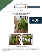 Crocodile Stitch Boots (Adult Sizes)
