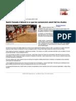 Santé Canada s'attend à ce que les semenciers aient fait les études   Économie