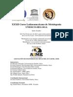 XXXII Curso Latinoamericano de Metalogenia UNESCO