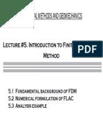 Lecture 5. Fdm - Flac