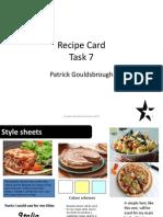 Recipe Cards Task 7 Pro-Forma