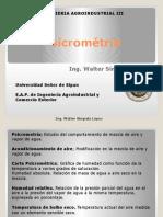 Clase 4 agro III Psicrometría